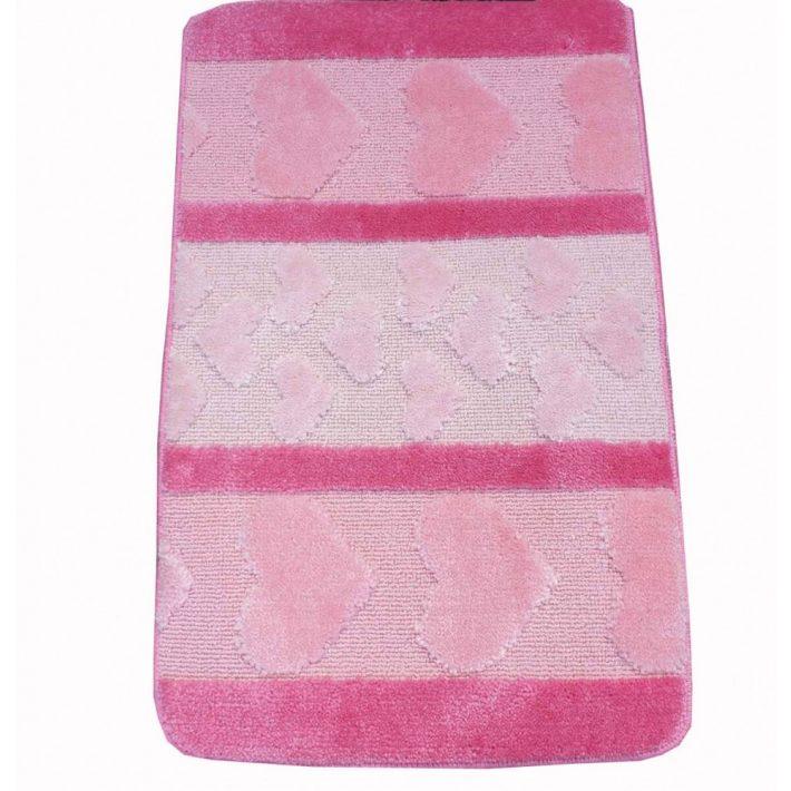 Nikosz Rózsaszín Fürdőszoba Szőnyeg Szett 3 részes 50 x 80 cm