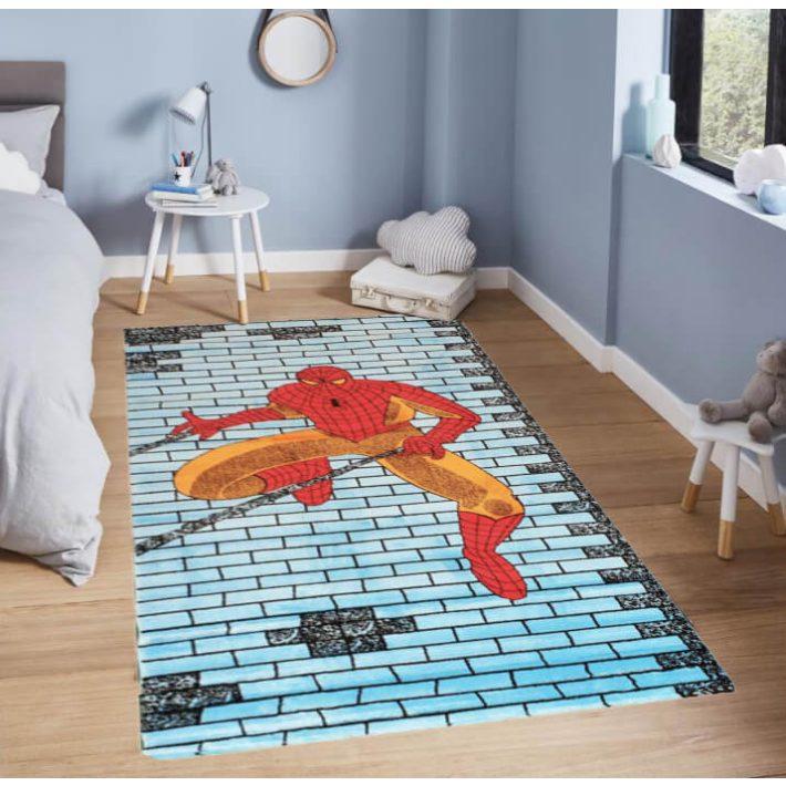 Pókember Gyerekszőnyeg Kék Színben Spiderman 125 x 200 cm