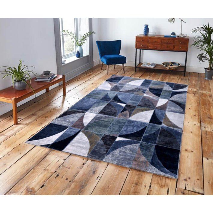 Zubiri Kék Kockás Szőnyeg 200 x 290 cm